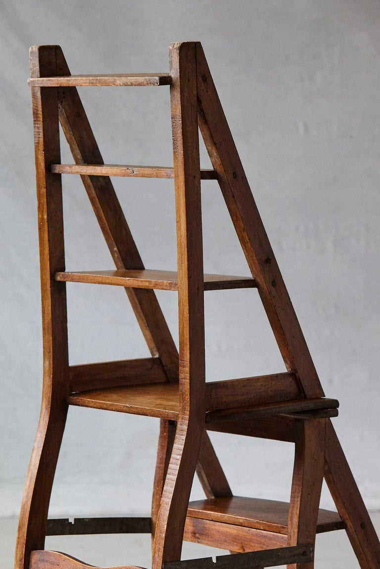 19th Century French Metamorphic Library Chair, circa 1840 For Sale 5