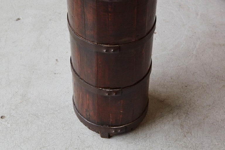 Late 19th Century Tall Chinese Fir Barrel from Zhejiang, circa 1870s For Sale 5