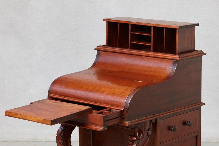 20th Century Walnut Piano Top Davenport Desk For Sale 1