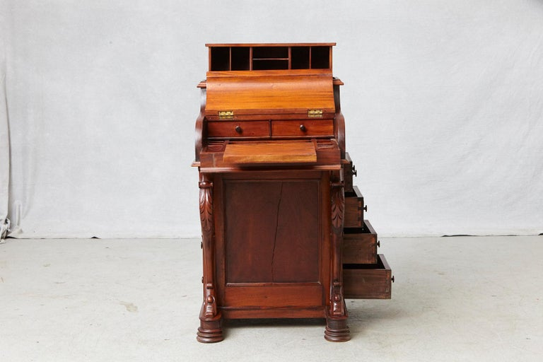 20th Century Walnut Piano Top Davenport Desk For Sale 3