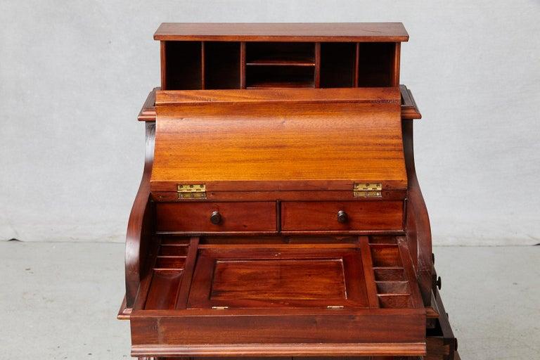 20th Century Walnut Piano Top Davenport Desk For Sale 2