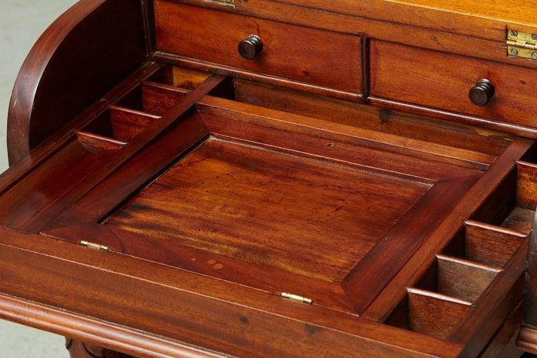 20th Century Walnut Piano Top Davenport Desk For Sale 8