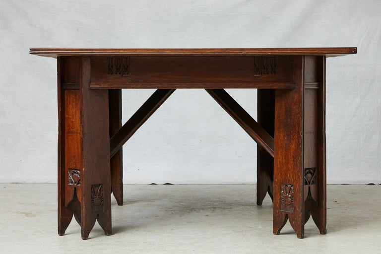 Important Art Nouveau Dining Set by Ernesto Basile for Ducrot, circa 1900 For Sale 2