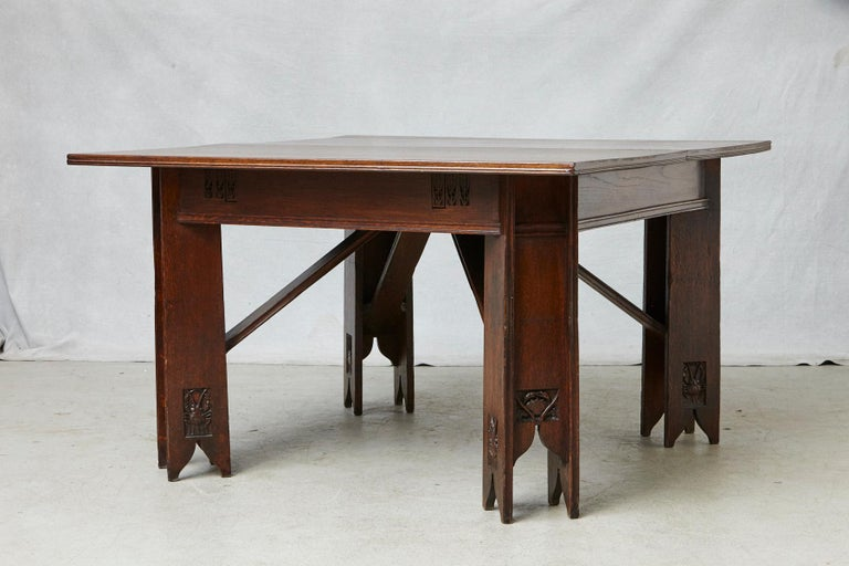 Important Art Nouveau Dining Set by Ernesto Basile for Ducrot, circa 1900 For Sale 3