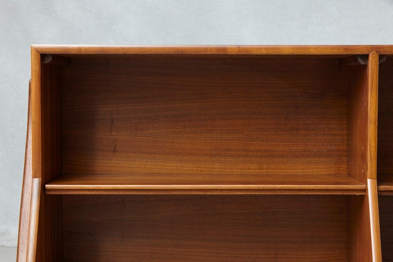American Walnut A-Frame Bookcase by Kipp Stewart the Collection Declaration by for Drexel For Sale