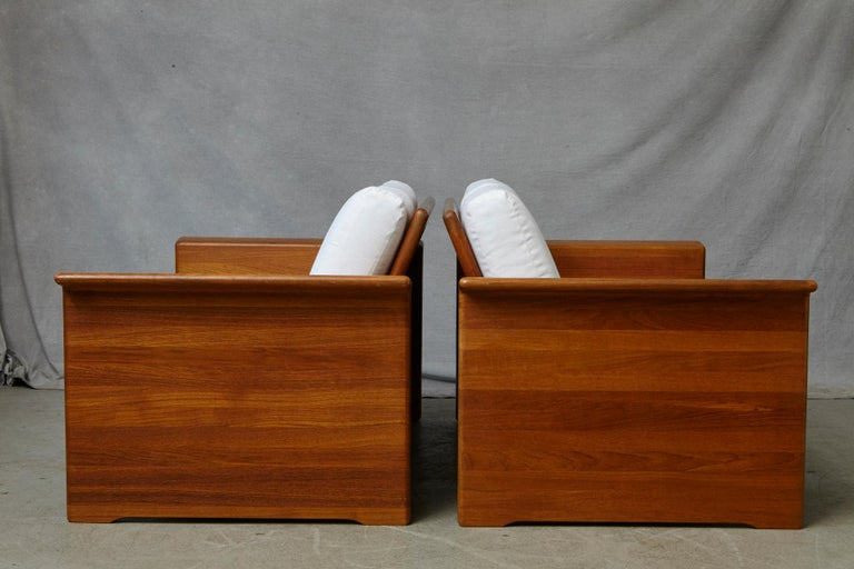 Two Newly Upholstered Tarn Stole Solid Teak Love Seats / Two-Seat, circa 1980s For Sale 6