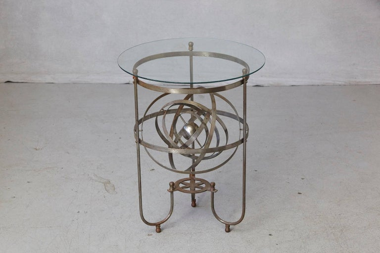 20th Century Rare Kinetic Side Table with Revolving Orbital Motion, England, 1930s For Sale