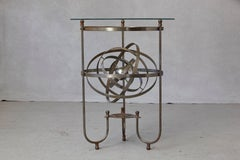 Rare Kinetic Side Table with Revolving Orbital Motion, England 1930's