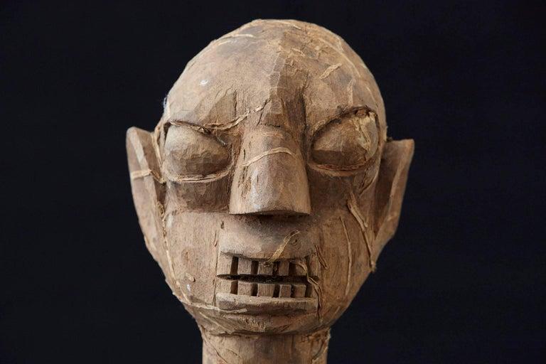 Wooden Head of an Ooni of Ile-Ife, Yoruba People, Nigeria, circa 1930s For Sale 2