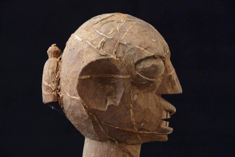 Wooden Head of an Ooni of Ile-Ife, Yoruba People, Nigeria, circa 1930s For Sale 1