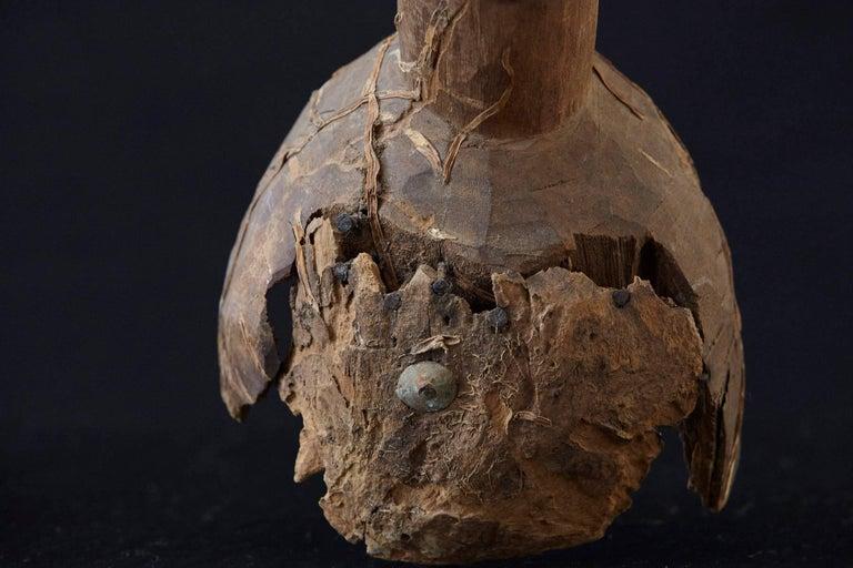 Wooden Head of an Ooni of Ile-Ife, Yoruba People, Nigeria, circa 1930s For Sale 3