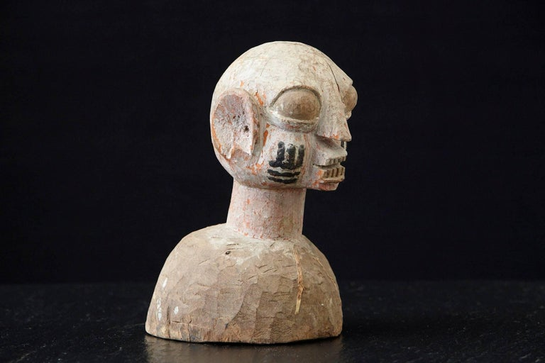20th Century Wooden Head of a Wife of an Ooni of Ile-Ife, Yoruba People, Nigeria, circa 1930s For Sale