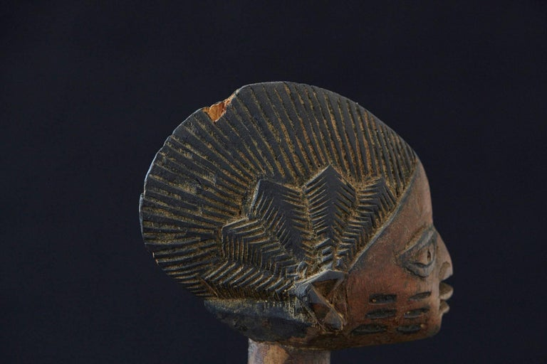 20th Century Woman Sacrificing Holding Offering Bowl, Yoruba People, Nigeria, 1940s For Sale