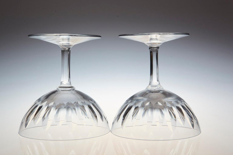 Set of Eight Baccarat Crystal 'Verone' Pattern Champagne Coupe, circa 1950s For Sale 4