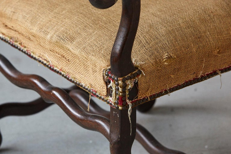 Pair of Louis XIV Style Os de Mouton Fauteuils Styled by Michael Trapp For Sale 2