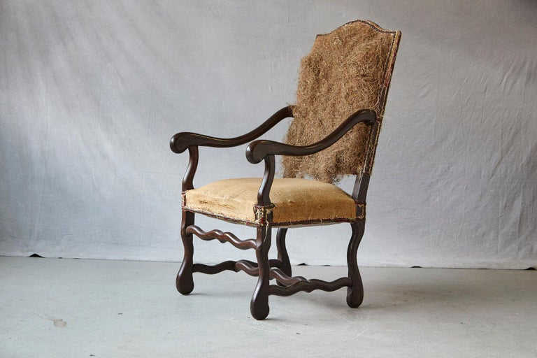 Pair of Louis XIV Style Os de Mouton Fauteuils Styled by Michael Trapp For Sale 3
