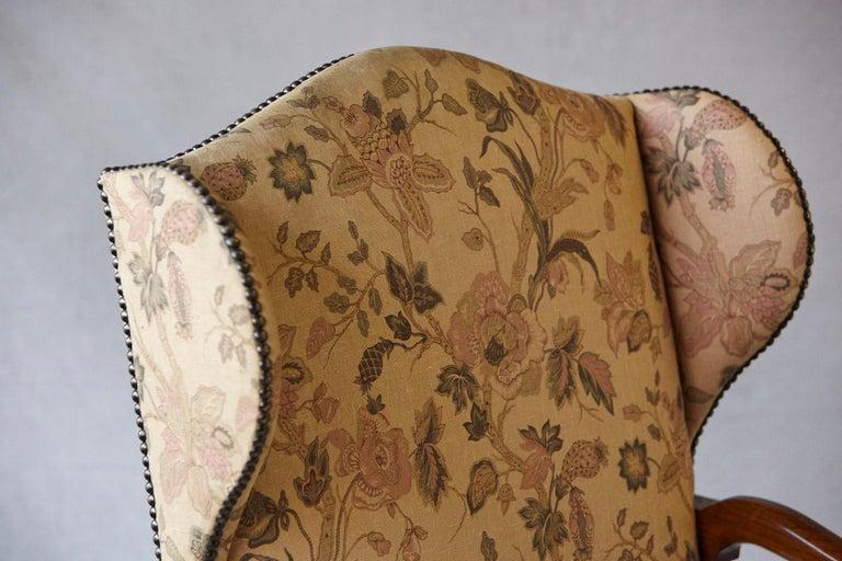 Pair of Louis XIV Style, Os de Mouton, Walnut Wingback Fauteuils For Sale 5