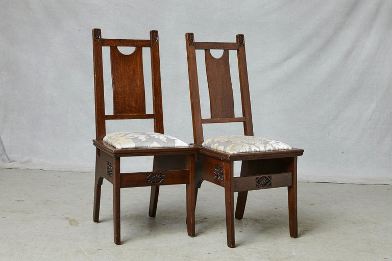 Important Art Nouveau Dining Set by Ernesto Basile for Ducrot, circa 1900 For Sale 10