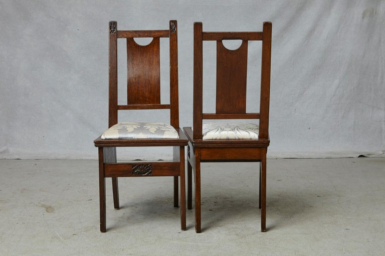 Important Art Nouveau Dining Set by Ernesto Basile for Ducrot, circa 1900 For Sale 12