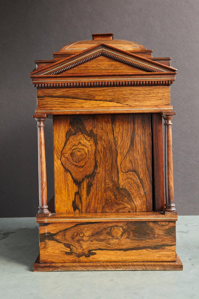 Inlay Important William IV Rosewood & Mother of Pearl Inlaid Lady's Table Compendium For Sale