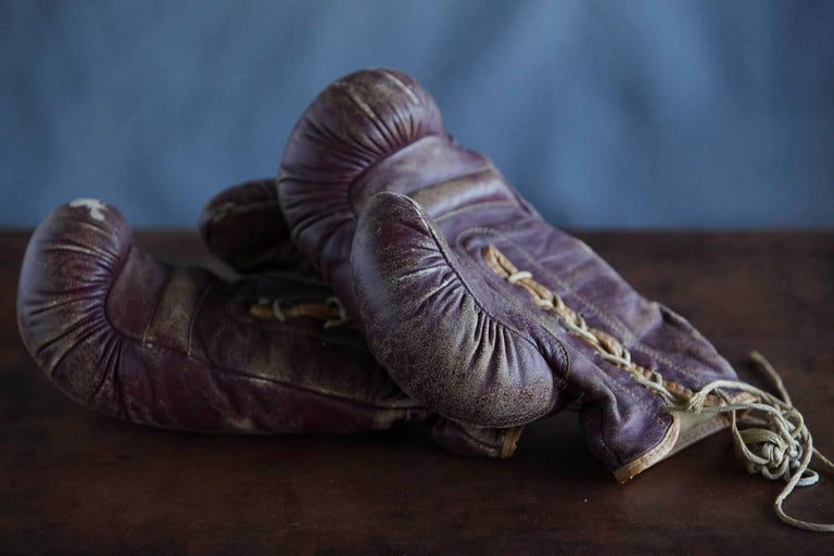 Original Leather Boxing Gloves by George a Reach Sporting Company, 1930s For Sale 1