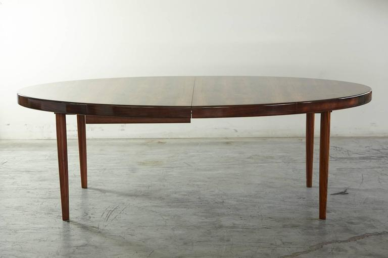 Rosewood Oval Extension Dining Table By Johannes Andersen 2