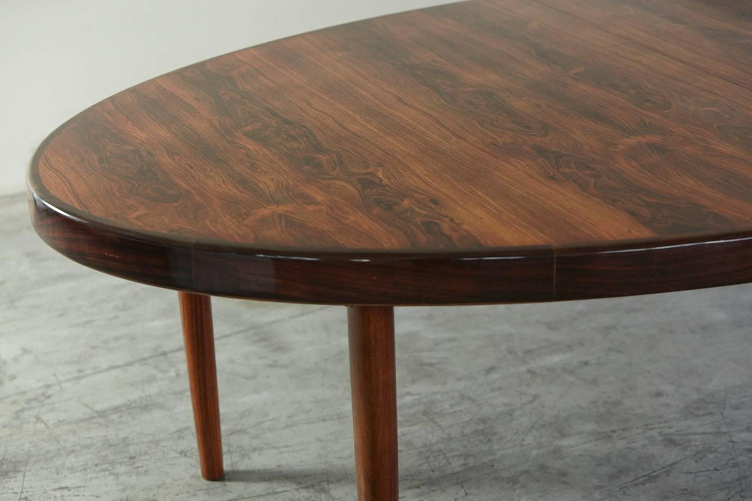 oval table with end extensions rosewood oval extension dining table by johannes andersen 7252