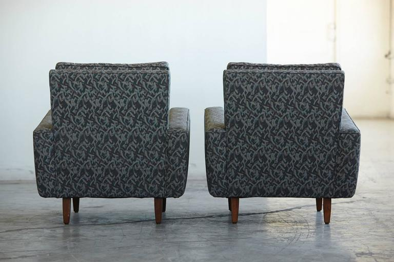 Oiled Pair of Early Florence Knoll Lounge Chairs from 1967, Reupholstered in the 1980s For Sale