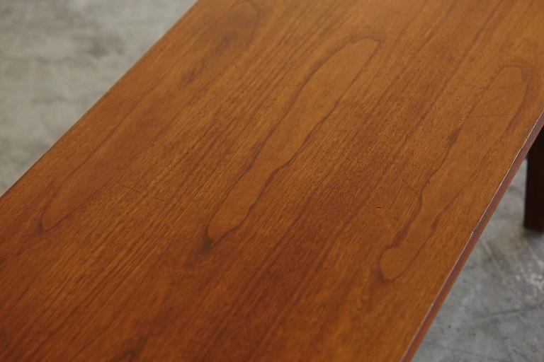 Paul McCobb Walnut and Aluminum Coffee Table for Calvin Furniture 8