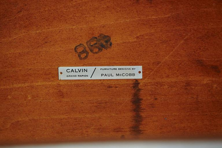 Paul McCobb Walnut and Aluminum Coffee Table for Calvin Furniture For Sale 3