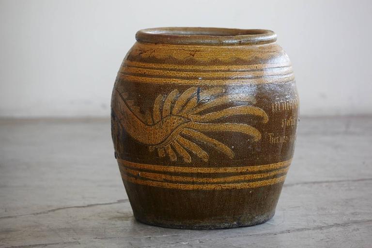 Korean Glazed Clay Dragon Water Jar For Sale 1
