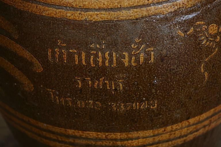 Korean Glazed Clay Dragon Water Jar For Sale 3