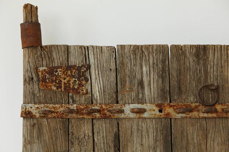 Pair of Large Antique Chinese Oak Gate Doors 1