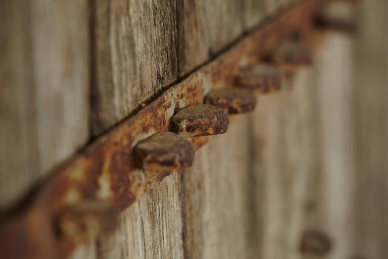 Pair of Large Antique Chinese Oak Gate Doors 2