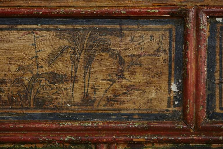 Long Antique Hand-Carved and Painted Chinese Altar Table For Sale 4
