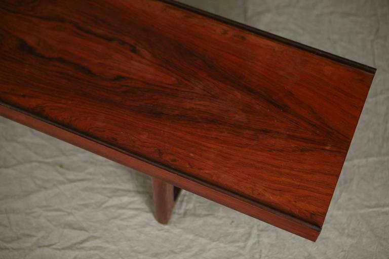Minimalist Rosewood Bench 'Korbo' by Torbjørn Afdal for Mellemstrands / Bruksbo In Good Condition In Pau, FR