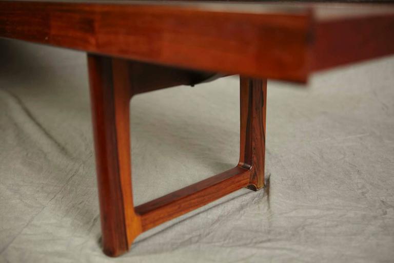 Mid-20th Century Minimalist Rosewood Bench 'Korbo' by Torbjørn Afdal for Mellemstrands / Bruksbo