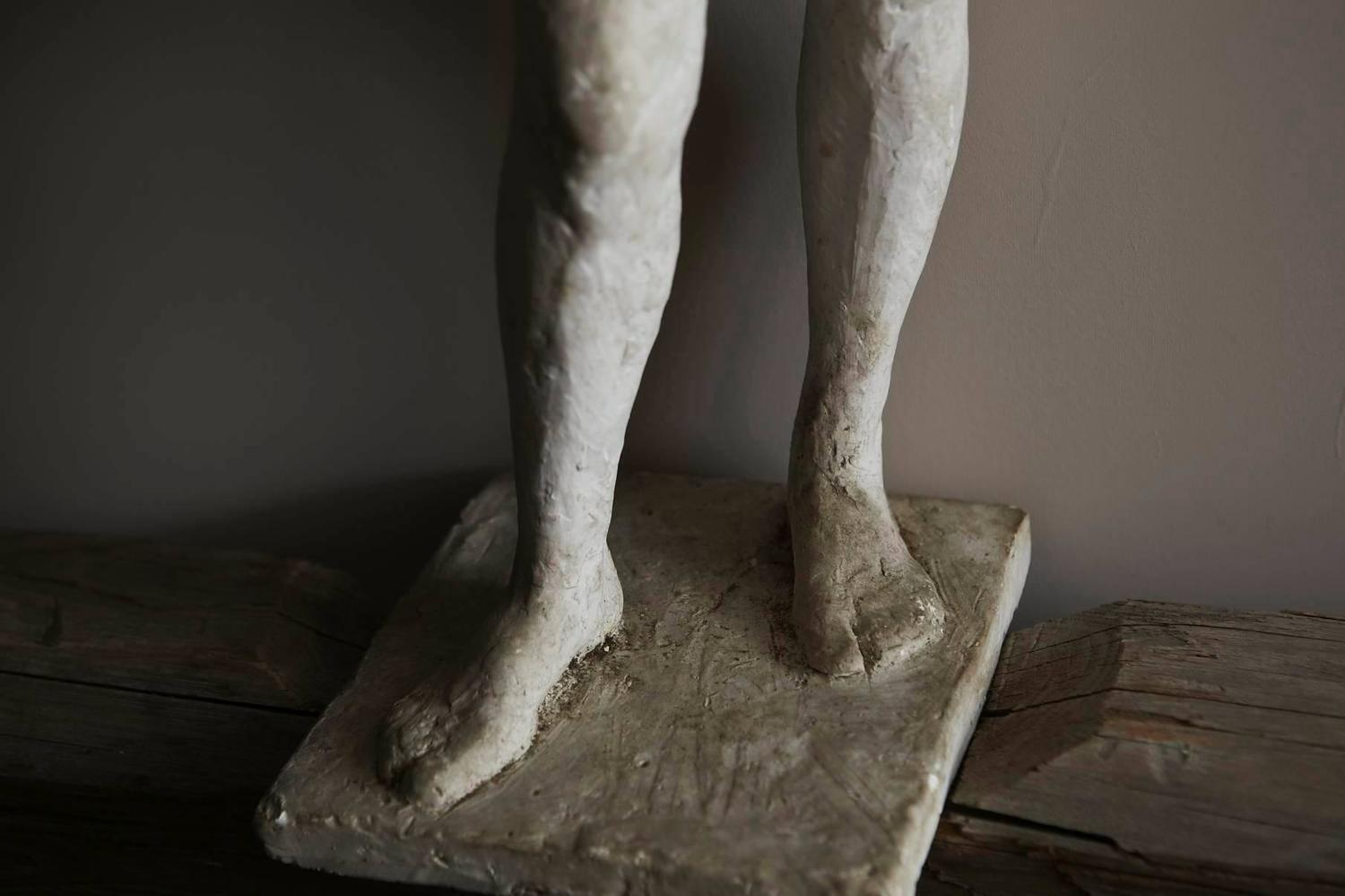 Large Raw Plaster Sculpture Nude Study For Sale at 1stdibs