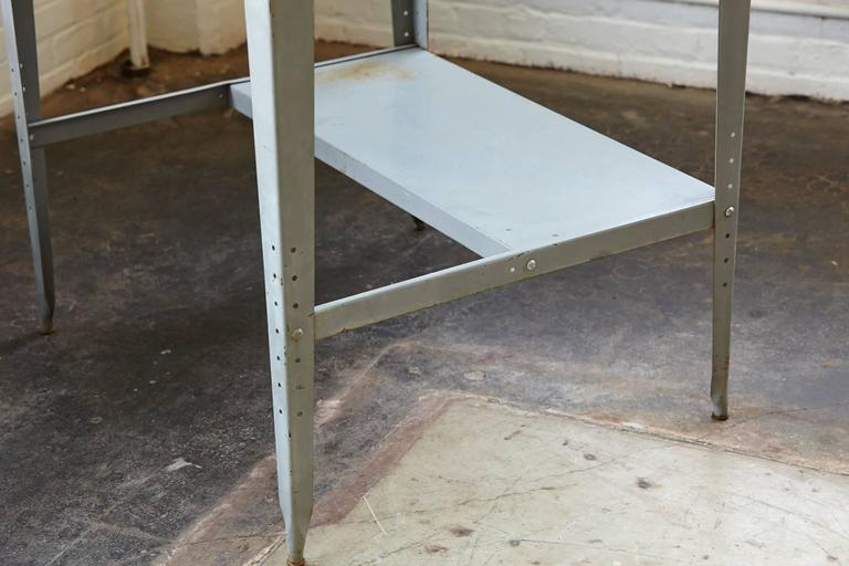 Vintage Industrial Painted Steel Stand Up Factory Foreman Desk For Sale 2
