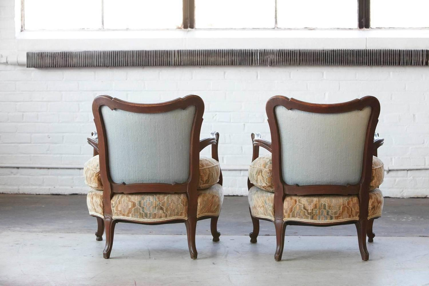 Pair Of Early 20th Century French Wide Brissac Berg 232 Res