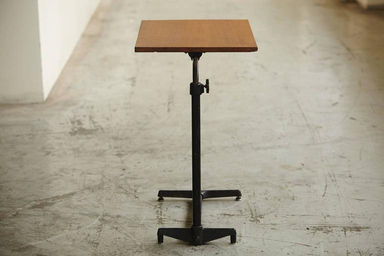 Early 20th Century Adjustable Height Drawing Table Stand In Good Condition For Sale In Westport, CT