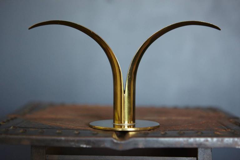 """Liljan"" Brass Candleholders by Ivar Ålenius Björk for Ystad Metal Sweden 4"