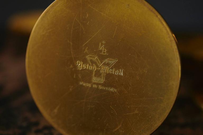 """Liljan"" Brass Candleholders by Ivar Ålenius Björk for Ystad Metal Sweden For Sale 3"