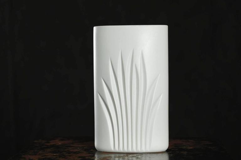 Modern White Matte Porcelain Vase by C J Riedel - Special Edition 100 Years Rosenthal For Sale