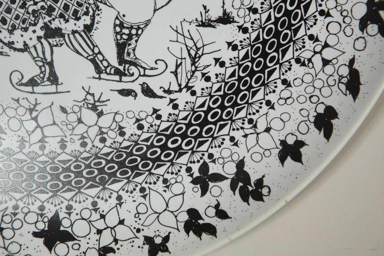 Large Rosenthal Porcelain Plate by Bjørn Wiinblad, The Seasons Series 'Winter' 3