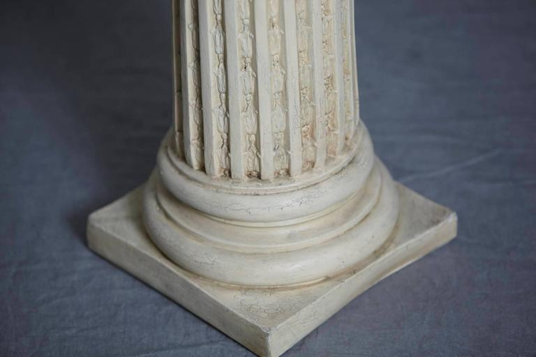 Greek Style Plaster Pedestal Or Column With Chapiteau In