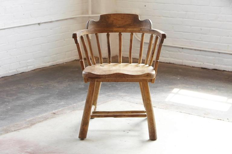 Antique Oak Barrel Chair 2 - Antique Oak Barrel Chair For Sale At 1stdibs