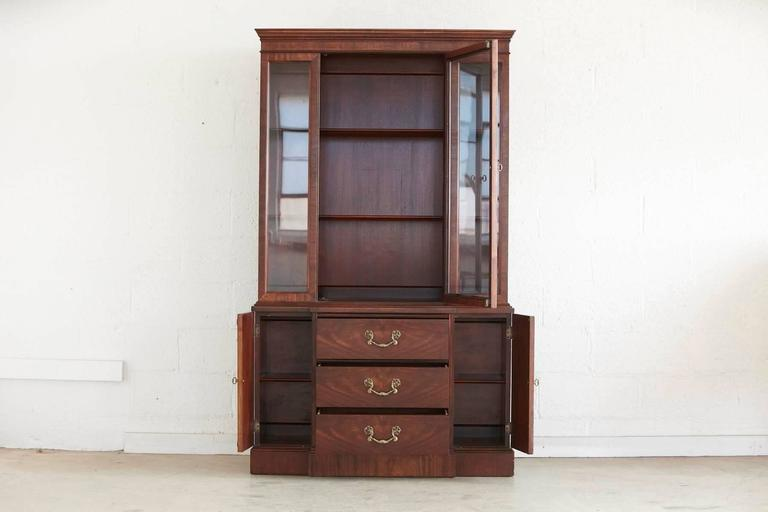 American Walnut Hutch or China Cabinet For Sale