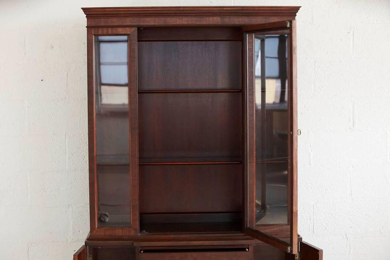 Walnut Hutch or China Cabinet For Sale 1