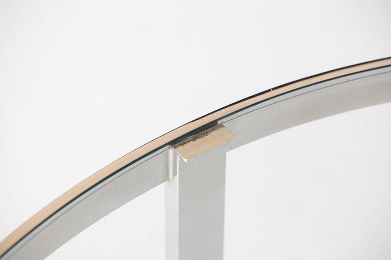 Milo Baughman Round Chrome and Glass Coffee Table 6